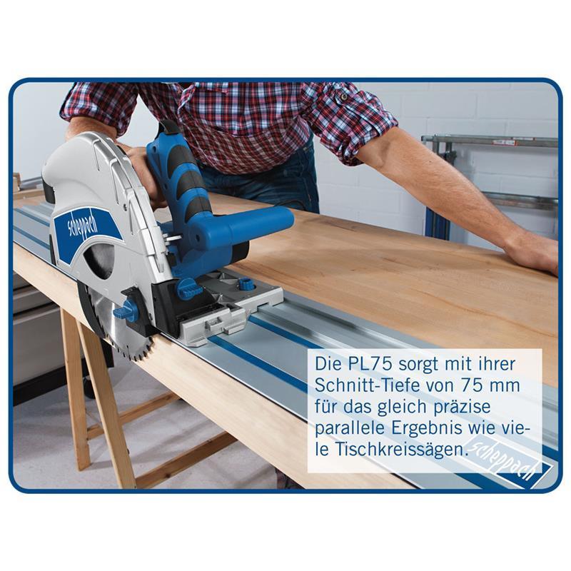 scheppach tauchs ge pl75 zubeh r f hrungsschiene lefeld werkzeug. Black Bedroom Furniture Sets. Home Design Ideas