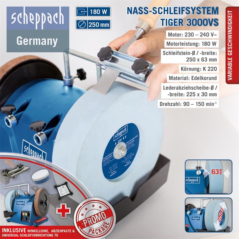 Scheppach Schleifstein 250 x 62 x 12 mm für TIGER 3000VS