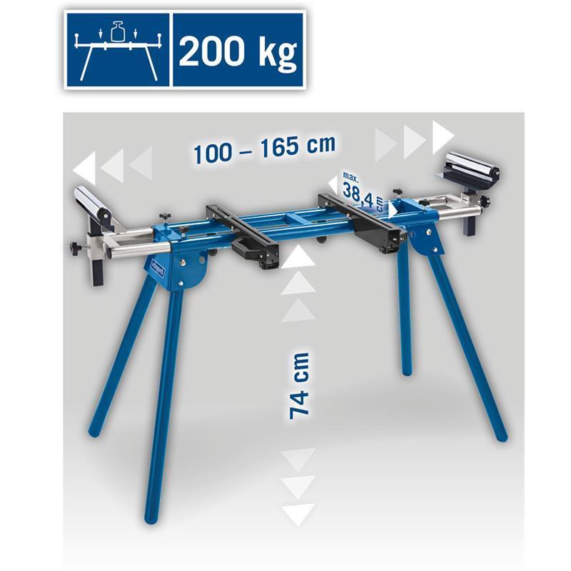 Scheppach arbeitstisch umf1600 ausziehbar bis 1650 mm for Stuhl 200kg belastbar