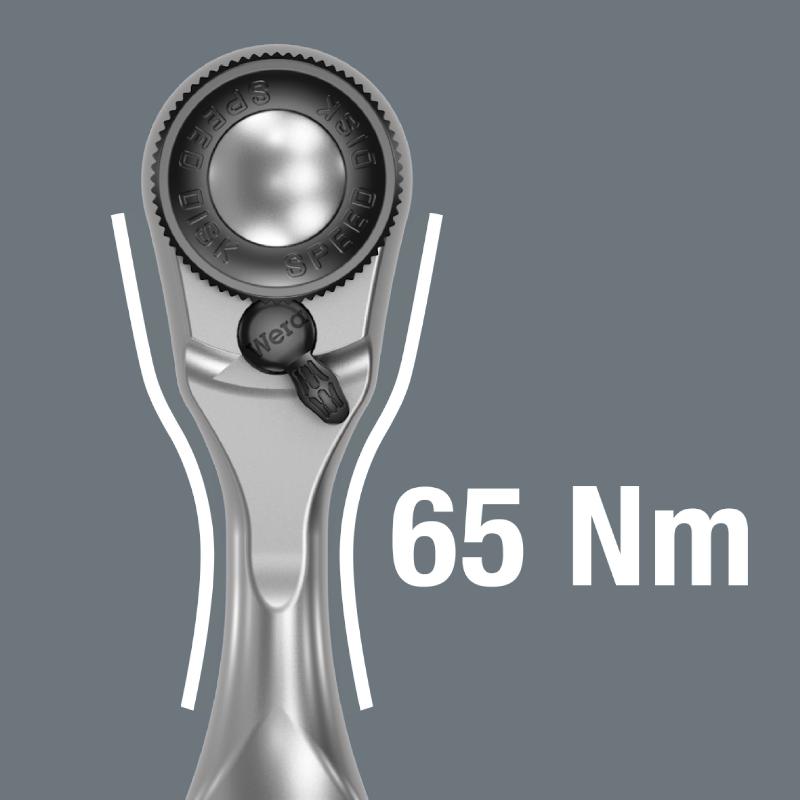 "Indexbild 5 - Wera 8008 A Zyklop Mini 3 1/4"" Knarre inkl. 3 Steckschlüsseleinsätzen 8 10 13 mm"