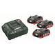 Metabo Basis-Set LiHD 18V inkl. 3 x 4,0Ah Akku und Ladegerät ASC 30-36 im Karton