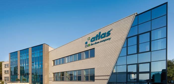 Atlas Firmengebäudefront