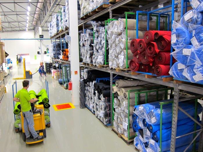 Atlas Brasilien Lager Stoffe und Materialien