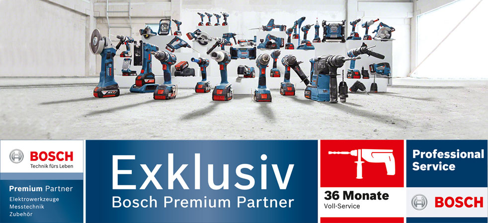 Das Bosch Akku Programm ist natürlich bei uns als Bosch Premium Partner komplett erhältlich.