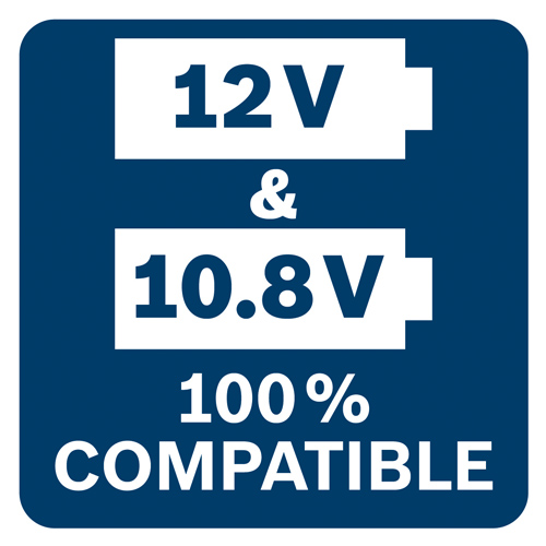 Die 12 Volt Techologie ist zu 100% Kompatibel mit 10,8 Volt Geräten.